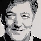 Stephen Fry Painting by Beth Lewis