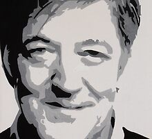 Stephen Fry Painting by Lex Lewis