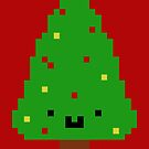 Cute Christmas Pixel Tree by perdita00