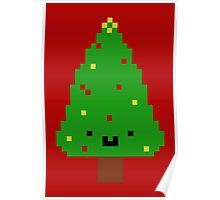 Cute Christmas Pixel Tree Poster