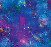 Blue splattery space by originalkin