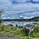 Tayvallich Harbour by Lynn Bolt