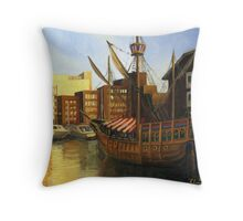 Calm Harbor Throw Pillow