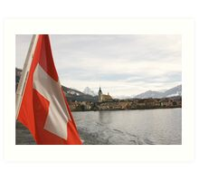 Lake Zug Art Print