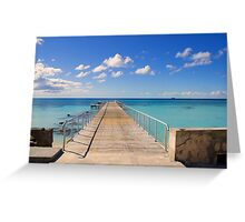 The Caribbean from Grand Turk Greeting Card