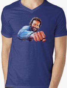 Bud Spencer Mens V-Neck T-Shirt