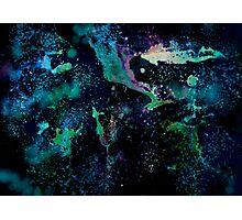 Neon Spraypainted Galaxy Photographic Print