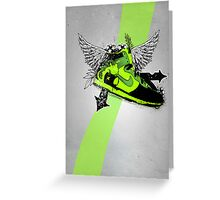 Green Sneaker Greeting Card