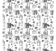 ::Potted Plants- White BG- pattern:: Photographic Print