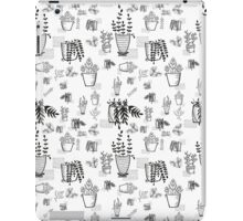 ::Potted Plants- White BG- pattern:: iPad Case/Skin