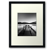Loch Lomond jetty Framed Print