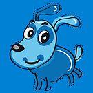 Happy Blue Dog by Silvia Neto