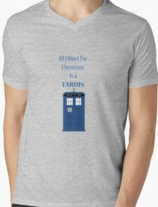 All i want for christmas is a tardis Mens V-Neck T-Shirt