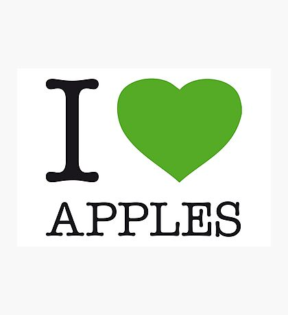 I ♥ APPLES Photographic Print