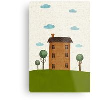 House in the сlouds Metal Print