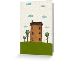 House in the сlouds Greeting Card