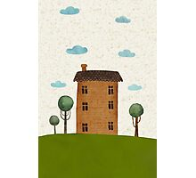 House in the сlouds Photographic Print