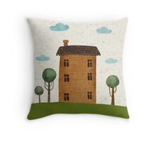 House in the сlouds Throw Pillow