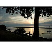 Sunset on Lake Ontario w/ Sailboat Photographic Print