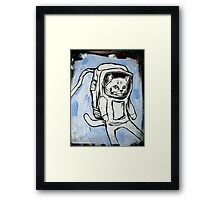 exploring the depths of outer space for the elusive galactic catnip Framed Print