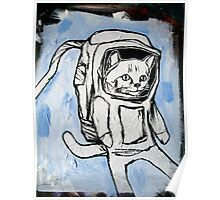 exploring the depths of outer space for the elusive galactic catnip Poster