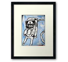 pug in space Framed Print