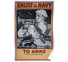 Enlist in the Navy To arms 0001 Poster