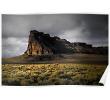 Fort Rock Glow Poster