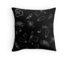 Objects of the Past Throw Pillow