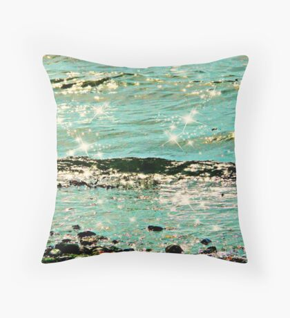 The Gentle Waves Reach the Shore Throw Pillow