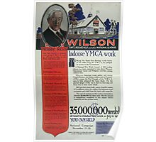 Wilson Taft Roosevelt and other national leaders indorsesicYMCA work 002 Poster