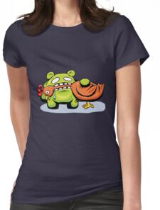 mmmmm chicken Womens Fitted T-Shirt
