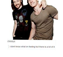 Homies Fassbender and McAvoy by Saara Rissanen
