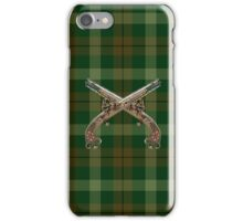 Echo Inspired Plaid w 18th Century Pistols iPhone Case/Skin