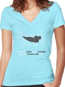 Cork in the Kitchen Women's Fitted V-Neck T-Shirt