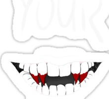 Show Me Your Teeth White ver Sticker