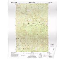 USGS Topo Map Washington State WA Bulldog Mtn 239696 1992 24000 Poster