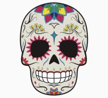 Sugar Skull CMYK ~ Sticker Kids Clothes