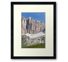 Glacier mountain Framed Print