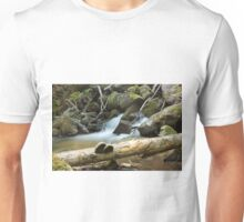 The fungus, the log and the waterfall Unisex T-Shirt