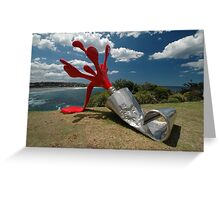 Red Paint Tube @ Sculptures By The Sea Greeting Card