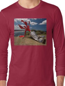 Red Paint Tube @ Sculptures By The Sea Long Sleeve T-Shirt