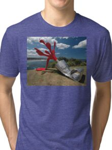 Red Paint Tube @ Sculptures By The Sea Tri-blend T-Shirt