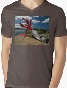 Red Paint Tube @ Sculptures By The Sea Mens V-Neck T-Shirt
