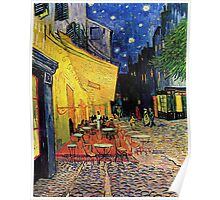 The Cafe Terrace on the Place du Forum, Arles, at Night,  Vincent van Gogh Poster