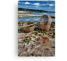Baskets on the Beach Canvas Print