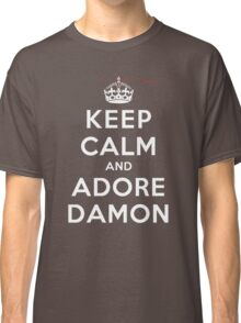 Keep Calm and Adore Damon From Vampire Diaries DS Classic T-Shirt