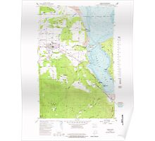 USGS Topo Map Washington State WA Sequim 243669 1956 24000 Poster