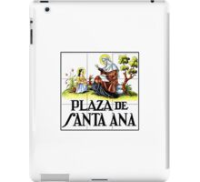 Plaza de Santa Ana, Madrid Street Sign, Spain iPad Case/Skin
