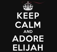 Keep Calm and Adore Elijah From Vampire Diaries DS T-Shirt